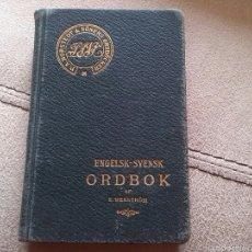Diccionarios antiguos: DICCIONARIO INGLÉS/SUECO 1911. Lote 56665099