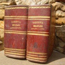 Diccionarios antiguos: LABERNIA: DICCIONARIO MANUAL DE LA LENGUA CASTELLANA CON LA CORRESPONDENCIA LATINA. 2 VOLS. 1850-53. Lote 56745130