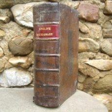 Diccionarios antiguos: N. BAILEY: AN UNIVERSAL ETYMOLOGICAL ENGLISH DICTIONARY, SEVENTH EDITION 1785 LONDON. Lote 56834521