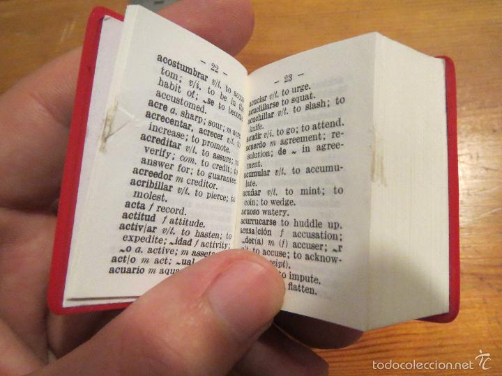 Diccionarios antiguos: DICCIONARIO MINIATURA LANGENSCHEIDT ESPAÑOL/INGLES ( ALGUNA HOJA MAL TROQUELADA ) LILIPUT - Foto 5 - 57083251
