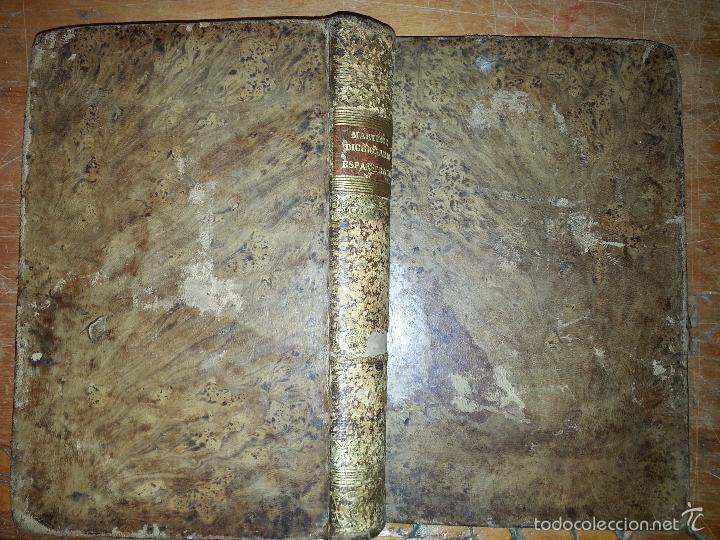 1840 DICCIONARIO - MARTINEZ - ESPAÑ FRANC , ESPAÑOL FRANCES - TAPA PIEL EDICION ECONOMIQUE, PARIS (Libros Antiguos, Raros y Curiosos - Diccionarios)