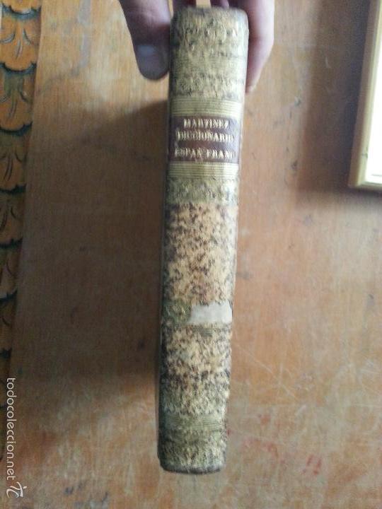 Diccionarios antiguos: 1840 DICCIONARIO - MARTINEZ - ESPAÑ FRANC , ESPAÑOL FRANCES - TAPA PIEL EDICION ECONOMIQUE, PARIS - Foto 4 - 57252143