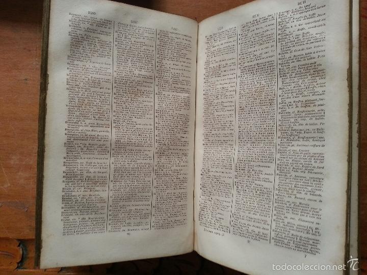 Diccionarios antiguos: 1840 DICCIONARIO - MARTINEZ - ESPAÑ FRANC , ESPAÑOL FRANCES - TAPA PIEL EDICION ECONOMIQUE, PARIS - Foto 6 - 57252143