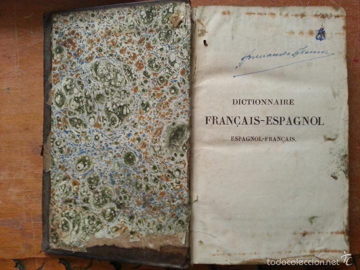 Diccionarios antiguos: 1840 DICCIONARIO - MARTINEZ - ESPAÑ FRANC , ESPAÑOL FRANCES - TAPA PIEL EDICION ECONOMIQUE, PARIS - Foto 7 - 57252143