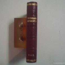 Diccionarios antiguos: DICCIONARIO ORTOGRÁFICO DE BOLSILLO. EDICONES HYMSA APROX. 1930.BUEN EJEMPLAR. Lote 57290843
