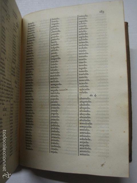 Diccionarios antiguos: DICCIONARIO DE LA RIMA LENGUA CASTELLANA- A. GRACIA- IMP. BRUSI- BARCELONA 1829-VER FOTOS - (XL-41) - Foto 7 - 57733164