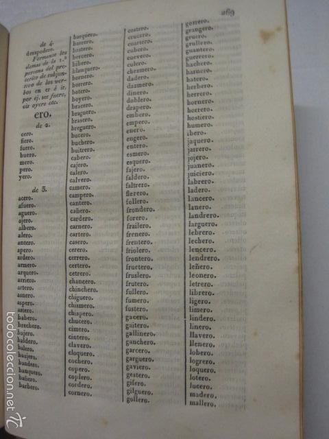 Diccionarios antiguos: DICCIONARIO DE LA RIMA LENGUA CASTELLANA- A. GRACIA- IMP. BRUSI- BARCELONA 1829-VER FOTOS - (XL-41) - Foto 9 - 57733164
