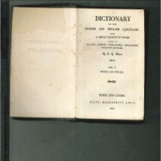 Diccionarios antiguos: DICTIONARY OF THE SPANISH AND ENGLISH LANGUAGES. S. H. BLANC. Lote 57904111
