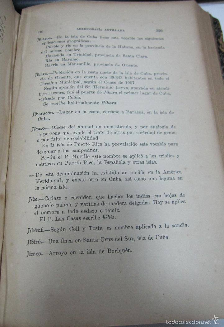 Diccionarios antiguos: LEXICOGRAFIA ANTILLANA. ALFREDO ZAYAS Y ALFONSO. HABANA, SIGLO XX. 1914. LEER. DEDICATORIA. VER - Foto 5 - 60410959