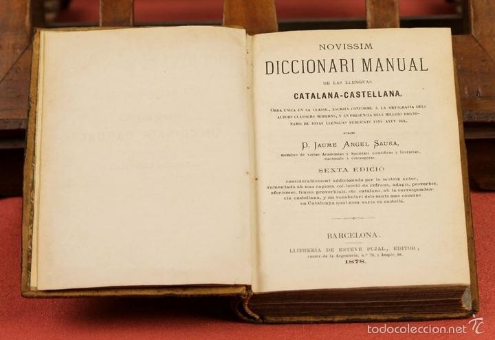Diccionarios antiguos: LP-292 - EDITOR ESTÉVAN PUJAL. 2 VOLÚMENES(VER DESCRIPCIÓN). 1870/1878. - Foto 5 - 60760367