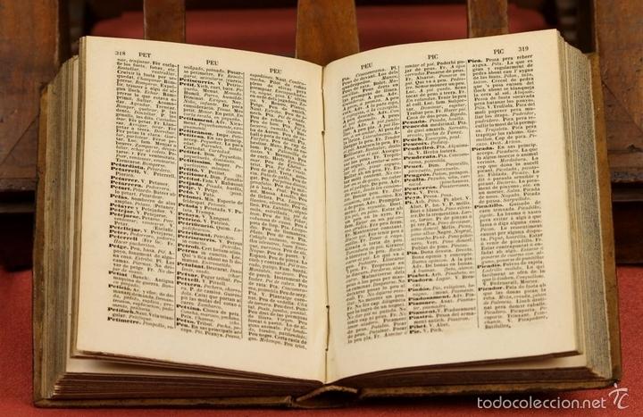 Diccionarios antiguos: LP-292 - EDITOR ESTÉVAN PUJAL. 2 VOLÚMENES(VER DESCRIPCIÓN). 1870/1878. - Foto 6 - 60760367
