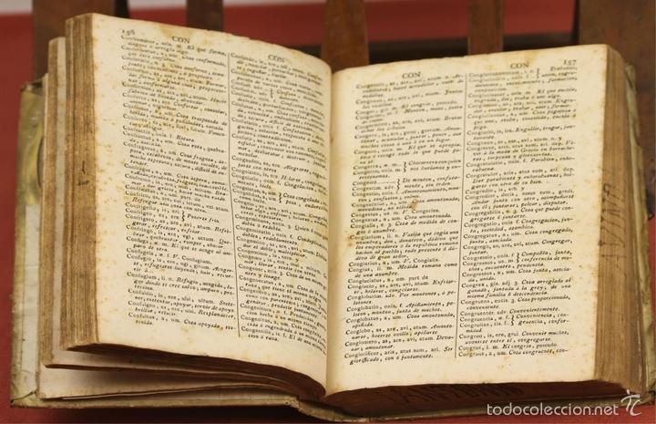 Diccionarios antiguos: 7966 - DICTIONARIUM MANUALE LATINO-HISPANUM. STEPHANO XIMENEZ. TIP. R. VERGES. 1827. - Foto 5 - 60850951