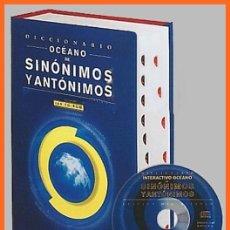 Diccionarios antiguos: DICCIONARIO OCÉANO DE SINÓNIMOS Y ANTÓNIMOS CON CD - ROM...1026 PÁG....MIDE 18 X 25,5 CMS. Lote 61039319