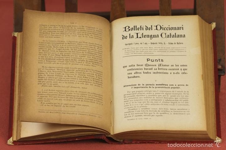 Diccionarios antiguos: 7980 - DICCIONARI DE LA LLENGUA CATALANA. TOMO I. A. Mª ALCOVER. EDIT. DE AMENGUAL Y MUNTANER. 1903. - Foto 3 - 61269951