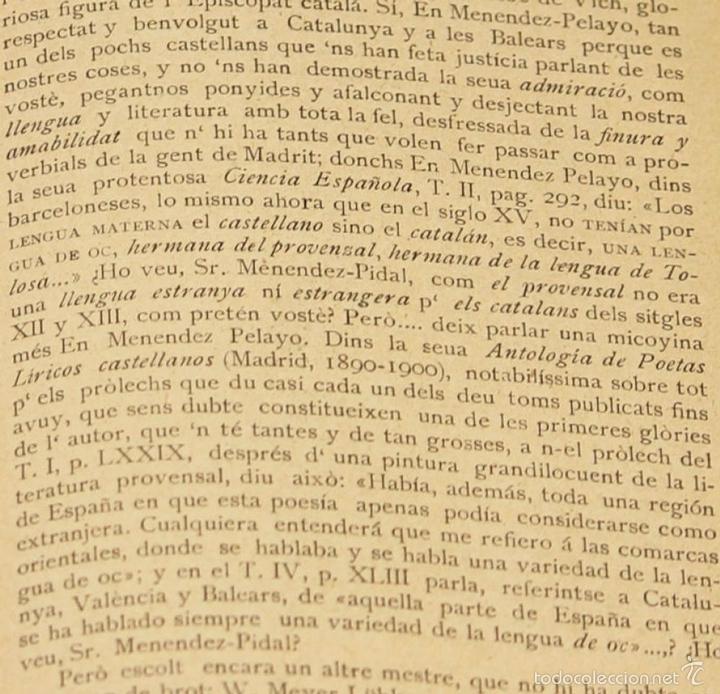 Diccionarios antiguos: 7980 - DICCIONARI DE LA LLENGUA CATALANA. TOMO I. A. Mª ALCOVER. EDIT. DE AMENGUAL Y MUNTANER. 1903. - Foto 5 - 61269951