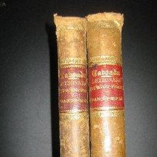Diccionarios antiguos: DICCIONARIO TABOADA ESPAÑOL - FRANCES. 2 VOL. JUAN OLIVERES 1863.. Lote 62068972