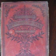 Diccionarios antiguos: DICCIONARIO CASTELLANO ENCICLOPÉDICO. CAMPANO ILUSTRADO.1891.PRIMERA EDICIÓN ILUSTRADA.. Lote 63257632