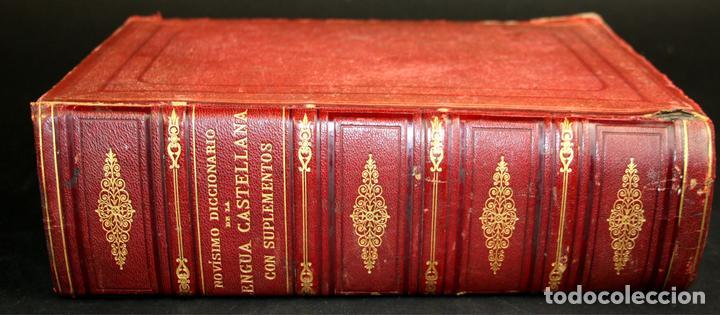 8110 - NOVISIMO DICCIONARIO DE LA LENGUA CASTELLANA. VV. AA. LIB. GANIER HERMANOS. 1891. (Libros Antiguos, Raros y Curiosos - Diccionarios)