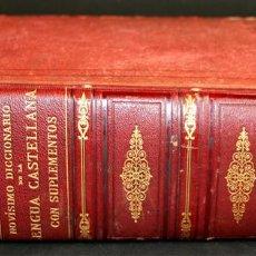 Diccionarios antiguos: 8110 - NOVISIMO DICCIONARIO DE LA LENGUA CASTELLANA. VV. AA. LIB. GANIER HERMANOS. 1891.. Lote 64025159