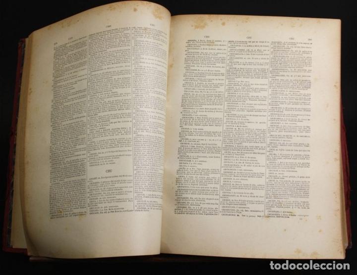 Diccionarios antiguos: 8110 - NOVISIMO DICCIONARIO DE LA LENGUA CASTELLANA. VV. AA. LIB. GANIER HERMANOS. 1891. - Foto 4 - 64025159