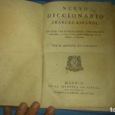 Diccionarios antiguos: NUEVO DICCIONARIO FRANCÉS ESPAÑOL POR D.ANTONIO DE CAPMANY IMPORTANTE.SANCHA AÑO 1805. Lote 65691110