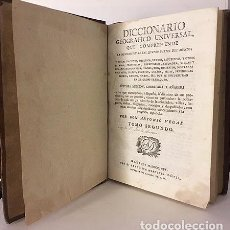 Diccionarios antiguos: VEGAS: DICCIONARIO GEOGRÁFICO UNIVERSAL... (1814). TOMO II. (CA-EZ). . Lote 66973970