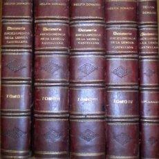 Diccionarios antiguos: DICCIONARIO ENCICLOPÉDICO DE LA LENGUA CASTELLANA / DONADIU DELFIN / 5 TOMOS. Lote 67136189