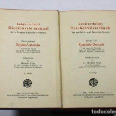 Diccionarios antiguos: LANGENSCHEIDT DICCIONARIO MANUAL ESPAÑOL ALEMAN 1928 552 PAGINAS . Lote 67724981