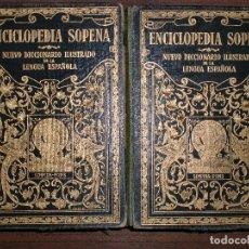Diccionarios antiguos: ENCICLOPEDIA SOPENA. NUEVO DICCIONARIO ILUSTRADO DE LA LENGUA ESPAÑOLA. 2 TOMOS. 1929.. Lote 68435457