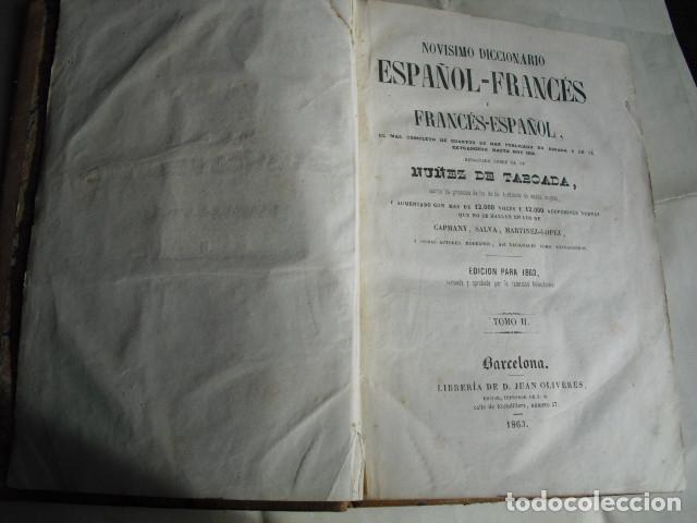 Diccionarios antiguos: 1863 NOVISIMO DICCIONARIO FRANCES-ESPAÑOL Y ESPAÑOL- FRANCES TABOADA DOS TOMOS - Foto 3 - 68729789