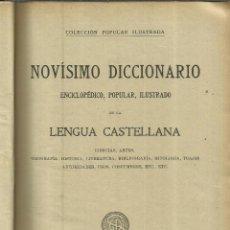 Diccionarios antiguos: NOVÍSIMO DICCIONARIO DE LA LENGUA CASTELLANA. TOMO IV.SOCIEDAD GENERAL DE PUBLICACIONES.BARCELONA. Lote 69471817