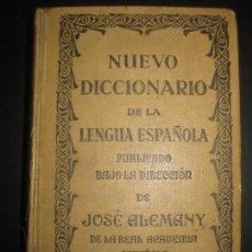 Diccionarios antiguos: NUEVO DICCIONARIO DE LA LENGUA ESPAÑOLA. JOSE ALEMANY Y BOLUFER. RAMON SOPENA 1927.. Lote 103636258