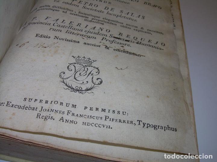 Diccionarios antiguos: LIBRO TAPAS DE PERGAMINO...THESAURUS HISPANO - LATINUS..AÑO 1.807...V.REQUEJO. - Foto 7 - 72817843