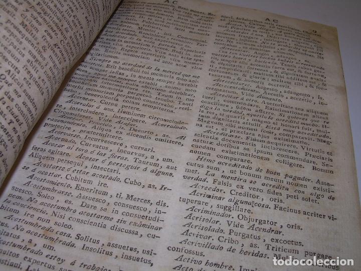 Diccionarios antiguos: LIBRO TAPAS DE PERGAMINO...THESAURUS HISPANO - LATINUS..AÑO 1.807...V.REQUEJO. - Foto 8 - 72817843
