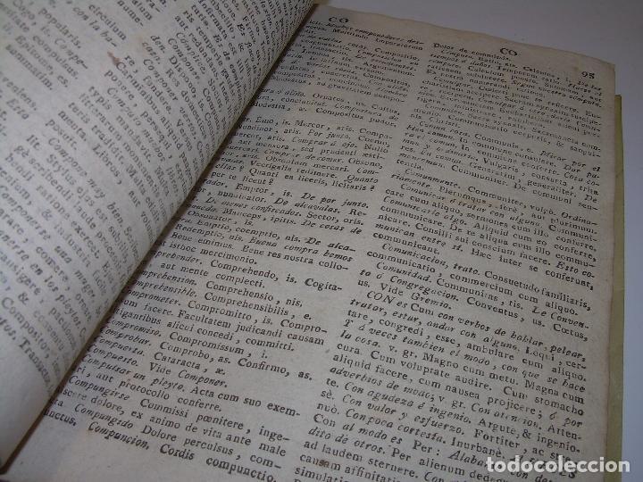 Diccionarios antiguos: LIBRO TAPAS DE PERGAMINO...THESAURUS HISPANO - LATINUS..AÑO 1.807...V.REQUEJO. - Foto 9 - 72817843