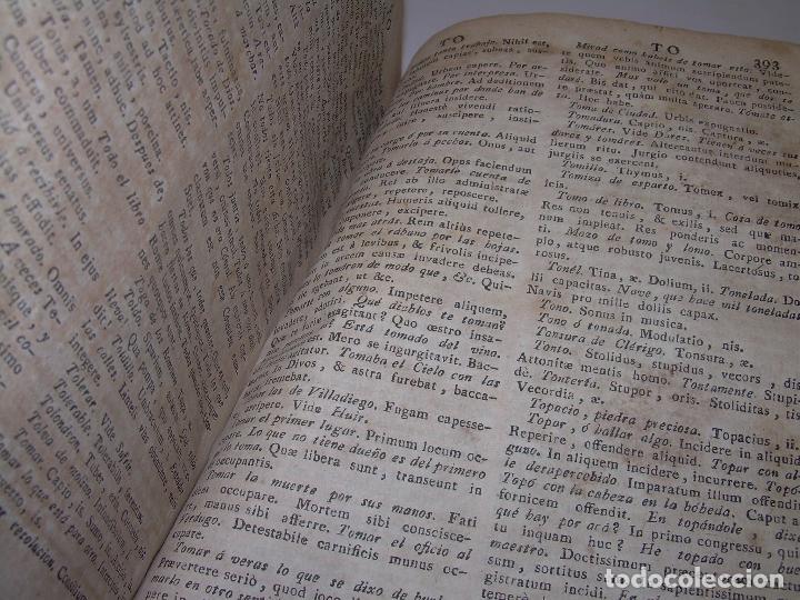 Diccionarios antiguos: LIBRO TAPAS DE PERGAMINO...THESAURUS HISPANO - LATINUS..AÑO 1.807...V.REQUEJO. - Foto 11 - 72817843