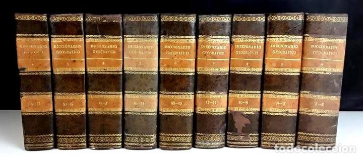 8308 - DICCIONARIO GEOGRÁFICO UNIVERSAL. 9 TOMOS(VER DESCRIP). VV. AA. IMP. J. TORNER. 1831/1834. (Libros Antiguos, Raros y Curiosos - Diccionarios)