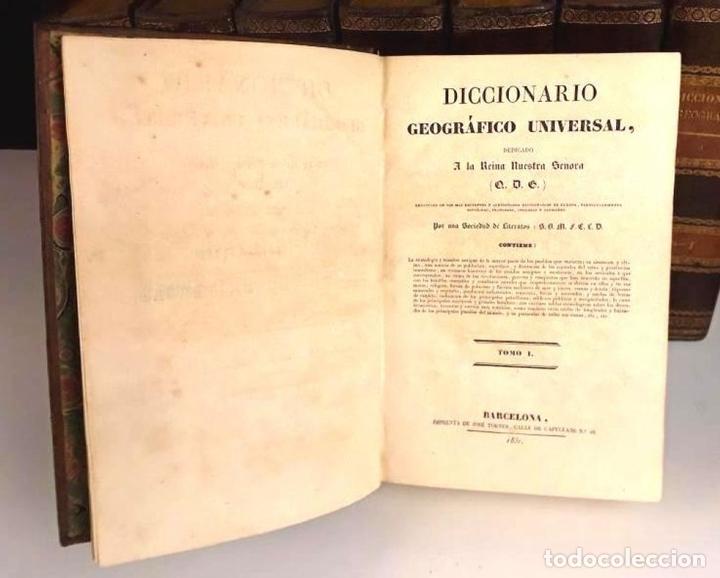 Diccionarios antiguos: 8308 - DICCIONARIO GEOGRÁFICO UNIVERSAL. 9 TOMOS(VER DESCRIP). VV. AA. IMP. J. TORNER. 1831/1834. - Foto 3 - 73014139