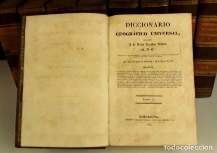 Diccionarios antiguos: 8308 - DICCIONARIO GEOGRÁFICO UNIVERSAL. 9 TOMOS(VER DESCRIP). VV. AA. IMP. J. TORNER. 1831/1834. - Foto 6 - 73014139