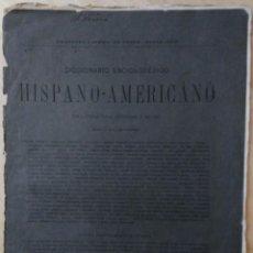 Diccionarios antiguos: DICCIONARIO ENCICLOPÉDICO HISPANO-AMERICANO, CUADERNO 110, BARCELONA - 1889 - MONTANER Y SIMÓN. Lote 73417475