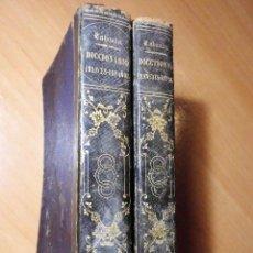 Diccionarios antiguos: DICCIONARIO FRANCÉS-ESPAÑOL Y ESPAGNOL-FRANÇAIS. NUÑEZ DE TABOADA (BARCELONA, 1865) - LOS 2 TOMOS. Lote 74352795