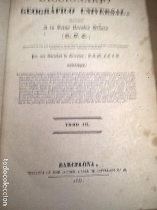 Diccionarios antiguos: DICCIONARIO GEOGRAFICO UNIVERSAL, TOMO III, BARCELONA, IMPRENTA DE JOSE TORNER 1831 - Foto 2 - 75075951