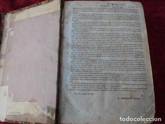 Diccionarios antiguos: Libro Valbuena diccionario Latino-Español 1854 B-106 - Foto 7 - 76253283