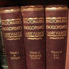 Libri antichi: DICCIONARIO ENCICLOPEDICO ABREVIADO. 1933. TRES TOMOS. EDITORIAL ESPASA CALPE. SEGUNDA EDICIÓN. Lote 77871941