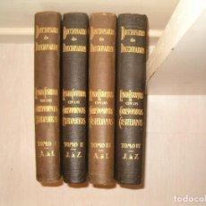 Diccionarios antiguos: ARTURO MASRIERA COLOMER. DICCIONARIO DE DICCIONARIOS. CUATRO TOMOS. RM79280. . Lote 78408769