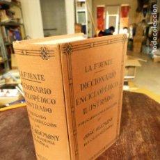 Diccionarios antiguos: LA FUENTE DICCIONARIO ENCICLOPEDICO ILUSTRADO (RAMÓN SOPENA, TAPA DURA 1936 1.300 GRABADOS, 600 RETR. Lote 79168661