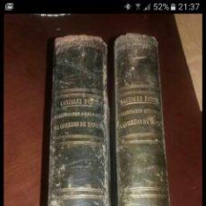 Diccionarios antiguos: DICCIONARIO GEOGRÁFICO POSTAL DE ESPAÑA CON SUS POSESIONES DE ULTRAMAR DOS TOMOS AÑO 1855. Lote 81034655