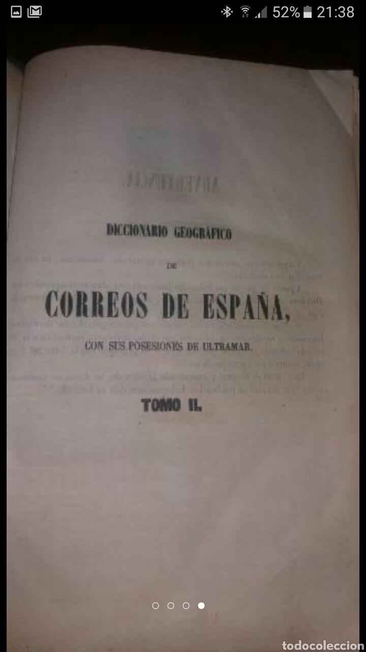 Diccionarios antiguos: DICCIONARIO GEOGRÁFICO POSTAL DE ESPAÑA CON SUS POSESIONES DE ULTRAMAR DOS TOMOS AÑO 1855 - Foto 2 - 81034655