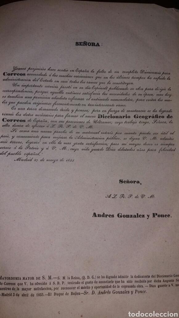Diccionarios antiguos: DICCIONARIO GEOGRÁFICO POSTAL DE ESPAÑA CON SUS POSESIONES DE ULTRAMAR DOS TOMOS AÑO 1855 - Foto 4 - 81034655