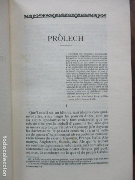 Diccionarios antiguos: DICCIONARI DE BARBRISMES INTRODUHITS EN LA LLENGUA CATALANA.CARETA Y VIDAL. 1901. - Foto 3 - 82281580